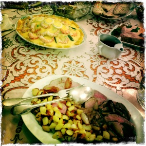 Insalata Russa on Xmas table