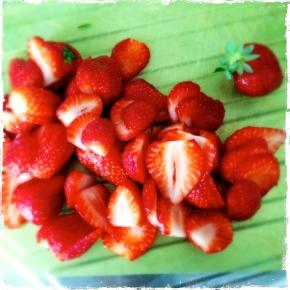strawberries slices!